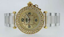 NOW Ladies Watch Polycarbonate Gold Diamante Brand New Boxed 3ATM WR