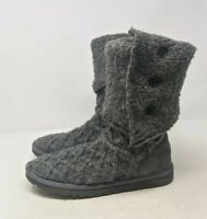 UGG Australia Cardy 3066 Womens 6 Gray Lattice Knee High Winter Boots