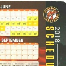 """Refrigerator Magnet Florida Fire Frogs 2018 Schedule 5"""" x 8"""""""