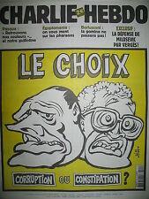 CHARLIE HEBDO 505 CHIRAC JOSPIN LE CHOIX PAR RISS TIGNOUS HONORé JUL SINé 2002