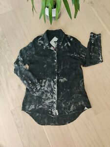 Bellfield Ladies Black and White Tie-dye Shirt, great condition, Size Small/10