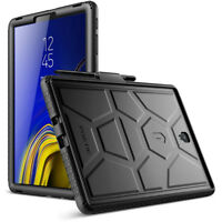 For Galaxy Tab S4 10.5 Poetic TurtleSkin SiliGrip Protective Silicone Case BLK