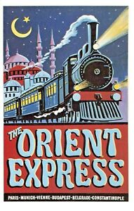 Postcard Repro Railway Poster, The Orient Express, Paris - Constantinople OH2