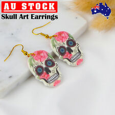 Fashion Skull Drop Dangle Acrylic Earrings Jewellery Gift Girls Women