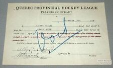 1921-22 Grand-Mere QPL Albert Ricard Hockey Contract
