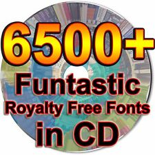 6500 Funtastic Royalty Fonts Writing True Type TTF Files Graphic Design CD
