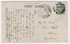 RIVER CLYDE & BRIDGE: Glasgow postcard with S.C.W.S. LD perfin on stamp (C24208)