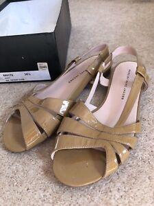"Sandals Shoes Marc Jacobs Patent ""Nude"" (Tan, Beige, Brown) 38.5 VGC"