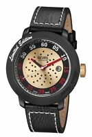 Gevril Men's 1102 Alberto Ascari Automatic Limited Edition Black Leather Watch