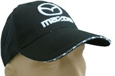 Mazda Classic Baseball Cap Black Hat Visor Logo Embroidered In Front Adjustable