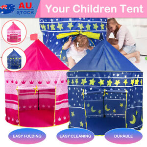 Kids Playhouse Unicorn Play Tent Pop Up Castle Princess Boys Girls Gift Indoor