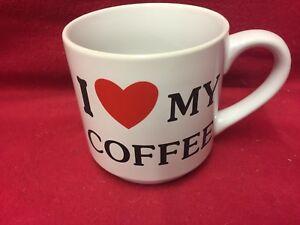 Large size Mug (I Love My coffee) 18 fl oz. (NOT QUITE A PINT)