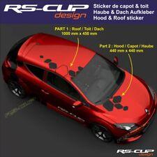 1405 sticker capot et toit Renault Sport Megane Clio Twingo RS aufkleber captur
