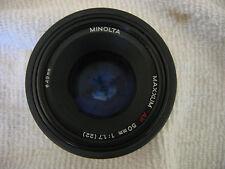 MINOLTA MAXXUM AF 50MM F1.7 LENS W/ FILTER