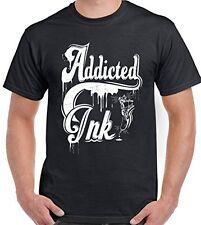 Tattoo T-Shirt Addicted Ink Mens Funny Tattooist Tribal Unisex Tee Top