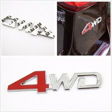 super Metal Red &Chrome 4WD Car Emblems Badge Decal Sticker For Ford Series d