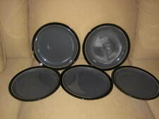 """5 Denby DUETS GRAY and BLACK DINNER PLATES 10-1/4"""""""