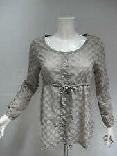 H.EICH camisa de mujer fantasía HC1175 col. BEIGE CLARO/OSCURO t. 48 invierno