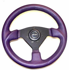 O.B.A. Lederlenkrad für Rover Cooper + Mini  330mm neu in violett