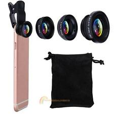 3 in1 Fish Eye+ Wide Angle + Macro Camera Clip-on Lens for iPhone 7/ Plus/ 6S/ 6