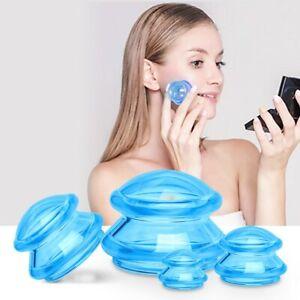 Cupping 4pcs Silicone Massage Cups Set Vacuum Suction AntiCellulite Facial Care
