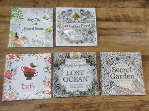 Job Lot Adult Colouring Book Paperback SET OF 5 BOOKS same as JOANNA BASFORD
