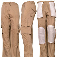 "Men's Cargo Trouser Security Pants Work Wear Action Trousers Beige 28"" and 30"""