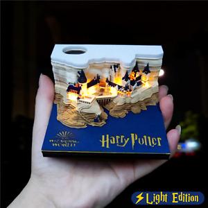 Harry Potter Hogwarts Castle 3D Memo Pad Post Note pad Cube Desk Decor Fan Gift