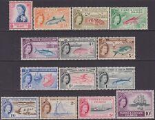 SET Turks & Caicos Islands 1957 Marine Life & Birds 1d-10s MNH Stamps SG237/250