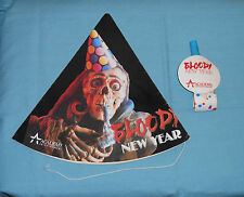 original promotional promo BLOODY NEW YEAR PARTY HAT & BLOWOUT NOISEMAKER