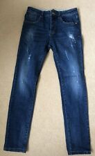 Great Condition Mens SWEEWE Paris Distressed Skinny Blue JEANS Sz 31