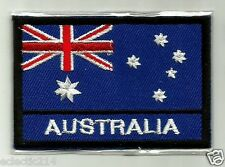 """AUSTRALIAN FLAG"" Embroidered Patch THE SOUTHERN CROSS Australia Iron On AUSSIE"