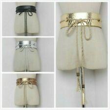 Women Wide Corset Strap Belts PU Leather Cummerbunds Lace Up Waistbands Decorate