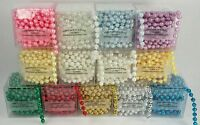 6MM Faux Pearl Plastic Craft BEADS on a String - 10 Feet in a BOX - CHOOSE COLOR