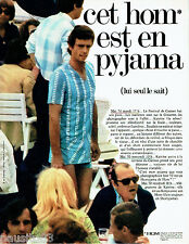 PUBLICITE ADVERTISING 125  1970  Hom  sous vetements pyajama homme