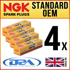 4x NGK BPR6E (6464) Standard Spark Plugs For ISUZU PIAZZA 2.0 87-->