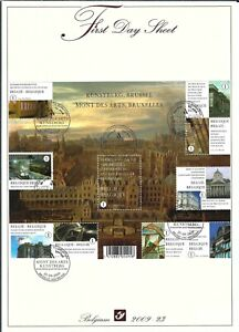 [FDS298] Belgium FDS 2009-23 Architecture First Day Sheet SUPERB