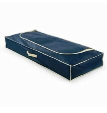 2 x Underbed Large Navy Canvas Storage Russel Duvet Clothes Shoes Blanket Bed