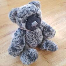 Charlie Bears Teddy Bear Soft Toy Plush Black Grey 11 inches
