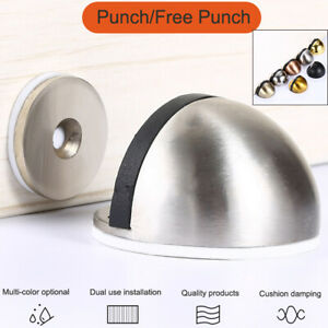 Invisible Door Stop Anti-Collision Magnetic Floor Mounted Stop Stainless Steel