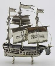 Vintage Sterling Silver 925 Italian Made Caravel Ship Miniature Hallmarked