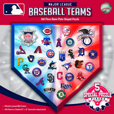 MLB Logos 500 Home Plate Piece Puzzle, MasterPieces MLB Licensed Jigsaw