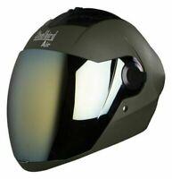 Steelbird Sba-2 Full Face Matt Battle Green Motorcycle Helmet With Extra Visor-L