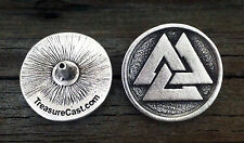 Viking Valknut Pewter Concho - Medieval / Norse / Handcrafted Fine Pewter