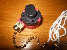 New 3 Speed Pull Chain Switch For Ceiling Fan By Zing Ear Model 268S1 In Brass
