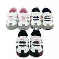 Toddler Infant Baby Boys Girls Crib Prewalker Soft Sole Anti-slip Sneakers Shoes