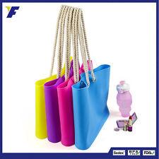 Women Silicone Bag Casual Tote Beach Purses Candy Color Silica Gel Handbag