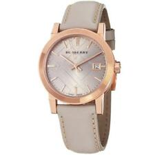 Burberry Women's Nude Leather Strap Watch Rose Gold 34mm BU9109