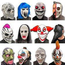 Hombre Payaso Siniestro Zombie Esqueleto Calavera Halloween Látex Mask Accesorio