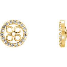 14 Quilates Amarillo 3/8ct. Tw. Diamante halo-styled Pendientes CHAQUETAS